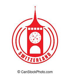 Swiss design over white background, vector illustration