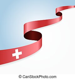 Swiss flag background. Vector illustration.