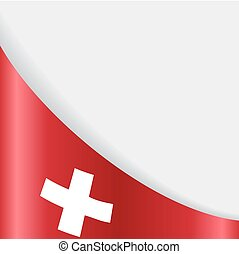 Swiss flag background. Vector illustration. - Swiss flag...
