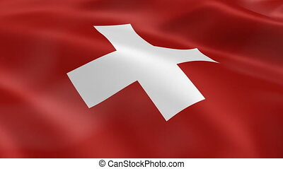 Swiss flag in the wind. Part of a series.