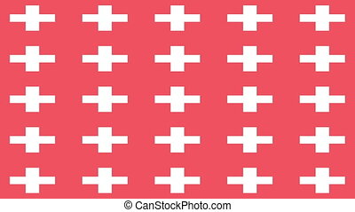 Swiss flag on infinite zoom
