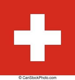Swiss flag, vector illustration