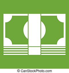 Swiss Franc banknote icon green