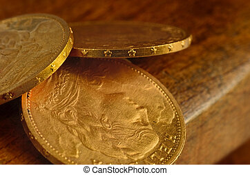 Swiss golden coins
