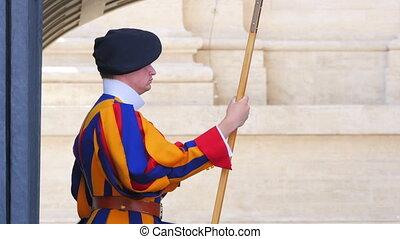 """swiss guards of pope, vativan city, 4k"""