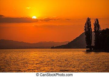 Swiss Lake Thun Sunset