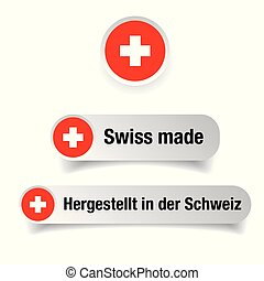 Swiss made label sign vector