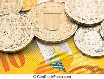 Swiss money.