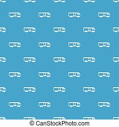 Swiss mountain train pattern seamless blue