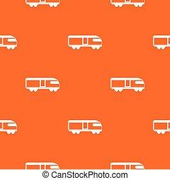 Swiss mountain train pattern seamless
