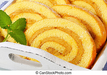 Swiss Roll with Coffee Mousse Cream
