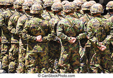 Swiss solders in camouflage