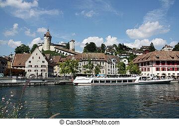 Swiss Town Schaffhausen - Beautiful View of Swiss Town...