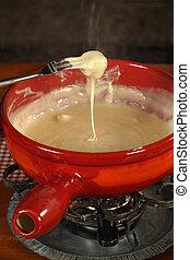 Swiss traditional fondue