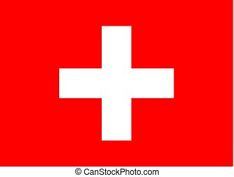 Swiss vector flag