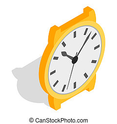 Swiss watch icon, isometric 3d style