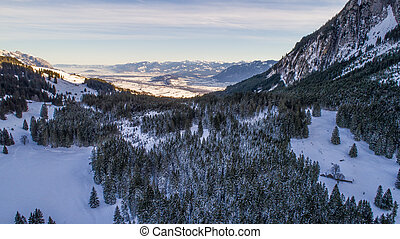 Swiss Winter - Snowy mountains - Mountains covered in snow...