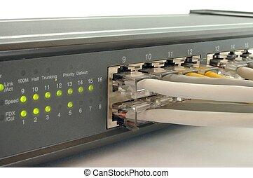 Switch - 10/100Mbps switch.