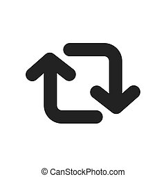 Switch arrow symbol icon vector