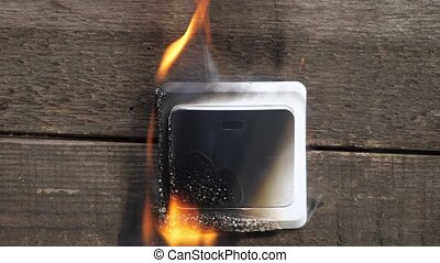 switch close up. - switch close-up. The fire was caused by a...