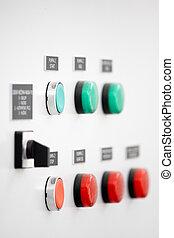 switch, elektrisch, paneel