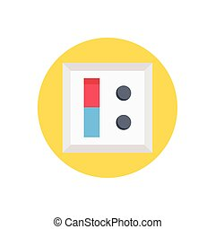 switch  flat color icon