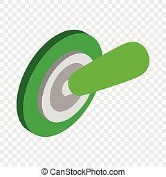 Switch on isometric icon