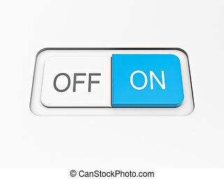 switch on off button on white board