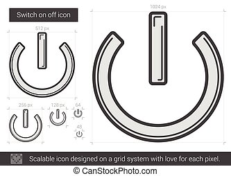 Switch on off line icon. - Switch on off vector line icon...