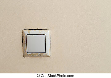 switch on the wall as background