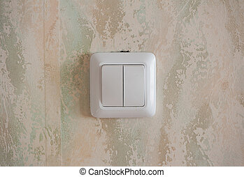 Switch on wall - Switch on the old wall