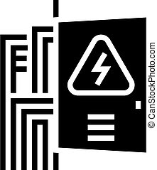 switchboard box glyph icon vector. switchboard box sign. isolated contour symbol black illustration