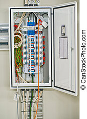 Switchboard - Housing of a switchboard in a rectangular...