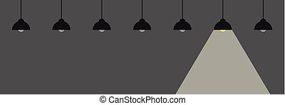 switched on hanging lamp energie concept vector illustration...