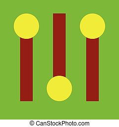 Switchers icon on the neon green background