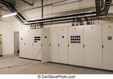 Switchgear in electrical room