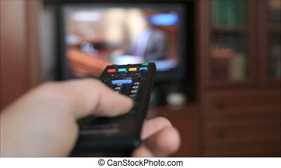 Switching channels on your TV