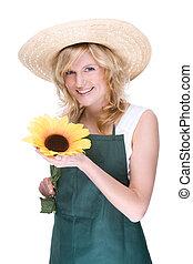 swith, jardinier, tournesol
