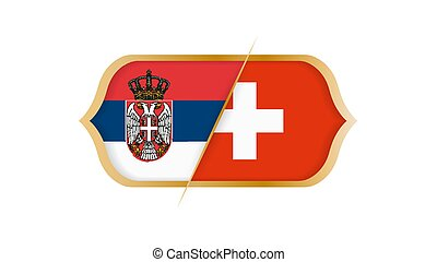 switzerland., ∥対∥, illustration., セルビア, ベクトル, 世界, サッカー, 選手権