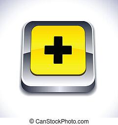 Switzerland 3d button.