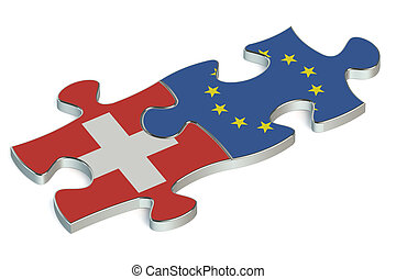 Switzerland and EU puzzles from flags
