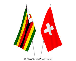 Switzerland and Zimbabwe flags - National fabric flags of ...