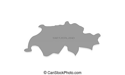 Switzerland animated map with alpha channel. - Stylish and ...