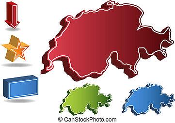 Switzerland country map