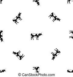 Switzerland cow pattern seamless black
