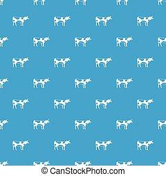 Switzerland cow pattern seamless blue