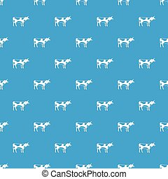 Switzerland cow pattern seamless blue
