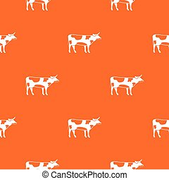 Switzerland cow pattern seamless