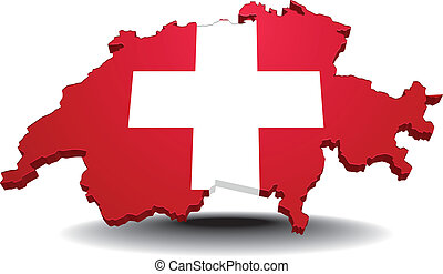 Switzerland - detailed illustration of a map of switzerland...