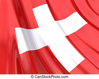 Switzerland Flag - Glossy Flag of Switzerland.
